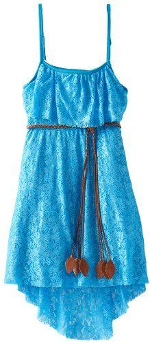 Rare editions girls 7 16 lace hi low dress turquoise 12 more