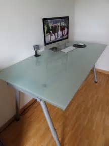 glass desk ikea galant frosted purchase sale and