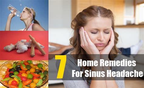 7 home remedies for sinus headache treatments