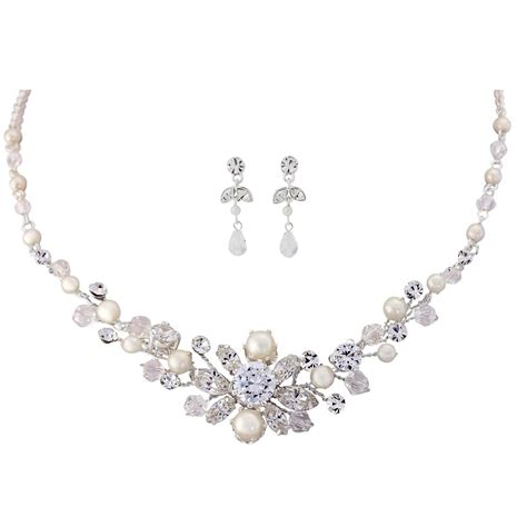 Wedding Jewellery by Timeless Pearl Necklace Set Bridal Jewellery