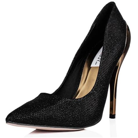 buy redcarpet metallic heeled glitter court shoes black