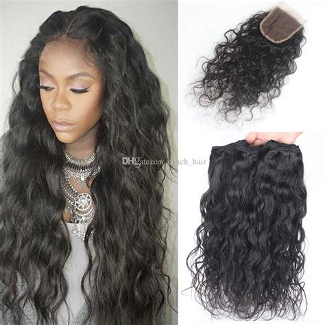 pics of brazilian hair styles 8a brazilian water wave hair with closure 3 bundles with