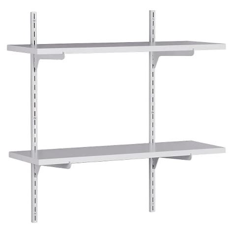 adjustable wall shelving closetmaid wall mounted adjustable 2 shelf shelv target
