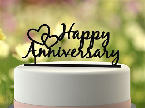 Wedding Anniversary Gift Melbourne by Quot Happy Anniversary Quot Wedding Anniversary Cake Topper