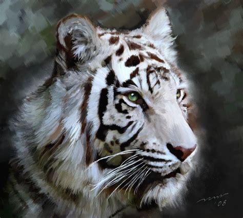 Painting Tiger white tiger painting tigers