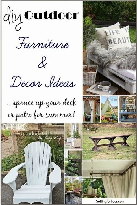 Diy Backyard Decorating Ideas Diy Outdoor Furniture And Decor Ideas Setting For Four