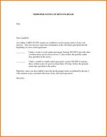 Exle Of Rent Increase Letter Uk Rent Increase Letter Template Pacq Co