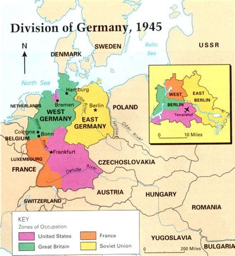map east germany west germany map of east and west germany with a seprate map for berlin