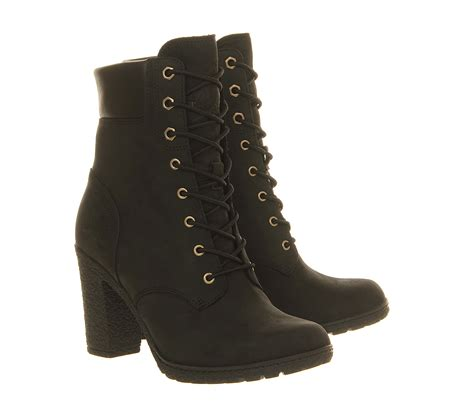timberland glancy 6 inch heel boots in black lyst
