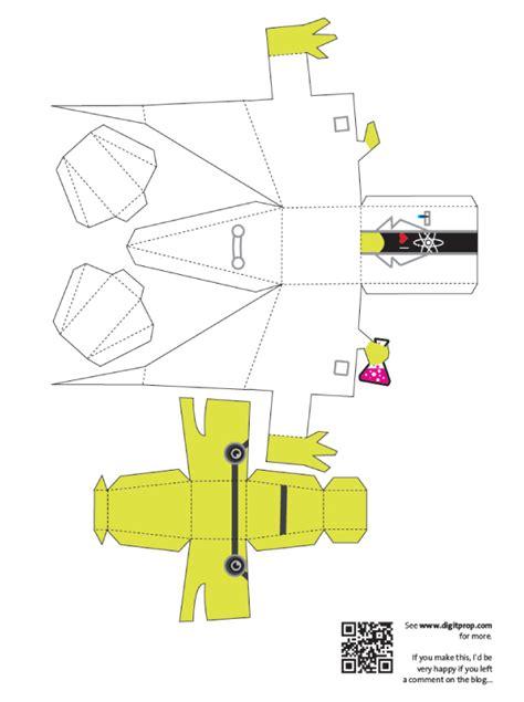 Dinosaur Papercraft Templates - scientist dino de digitprop paper fr