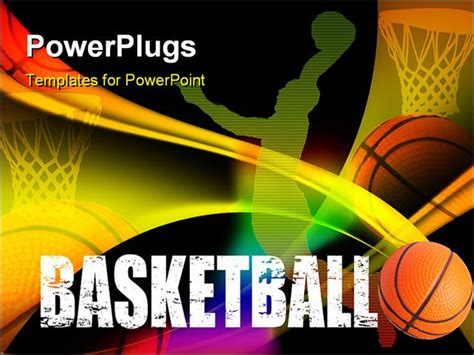 basketball powerpoint template free basketball advertising poster vector colored illustration