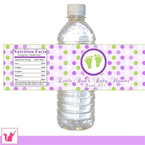 printable labels water bottles printable baby feet water bottle label wrappers baby