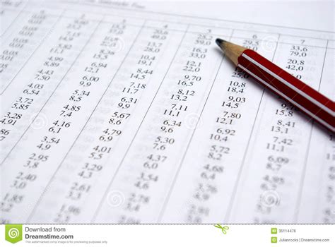 accounting stock photo image of index financial