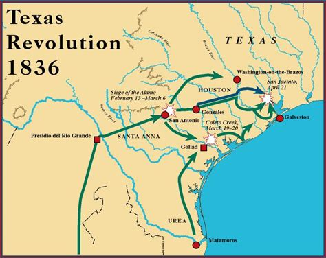 texas history map texas revolution map