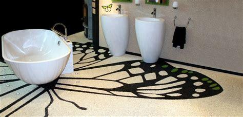 bodenbeläge aussenbereich fishzero steinteppich dusche geeignet verschiedene
