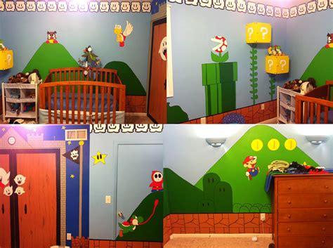 lucky kid creates mario bros themed room