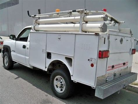 Utility Truck Ladder Racks by Buy Used 2003 Chevy 2500 Utility Service Bed Work Truck Hd
