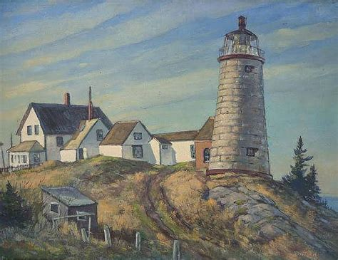 Sandwich Auction House by Earle A Titus Painting On Canvas