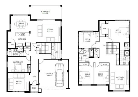 Narrow Lot Cottage Plans by 5 Bedroom House Designs Perth Double Storey Apg Homes