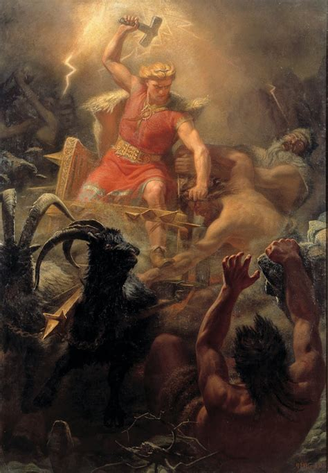 ancient god thor a pagan place pagan art quot thor s fight with the giants