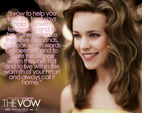 the vow the vow is easy takes courage