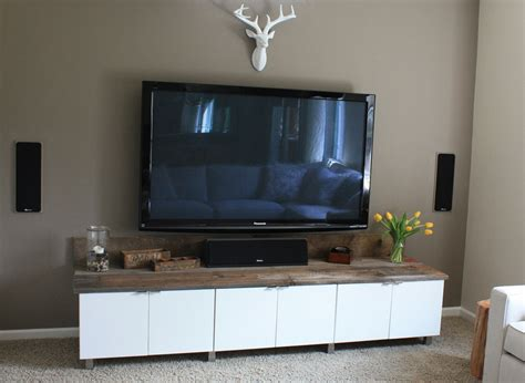 diy wall unit entertainment center ikea hack angie s diy rustic modern entertainment center
