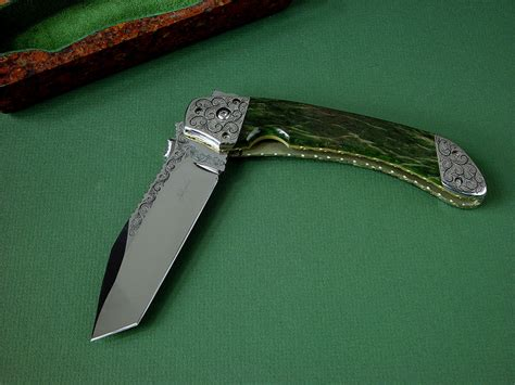 Custom Handmade Folding Knives - quot procyon quot custom handmade folding knife by fisher