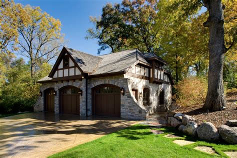 Carriage Style Garage Doors Garage And Shed Traditional Tudor Style Carriage House Plans