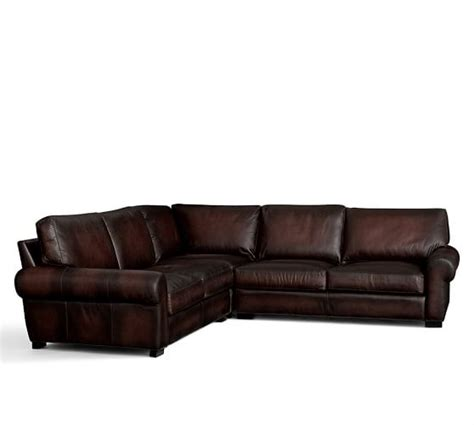 leather l shaped sectional turner roll arm leather 3 piece l shaped sectional