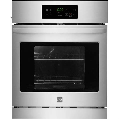 Cleaning Stainless Steel Oven Racks kenmore 40283 24 quot electric wall oven w self clean