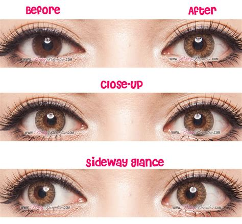 geo tri color brown circle lenses colored contacts