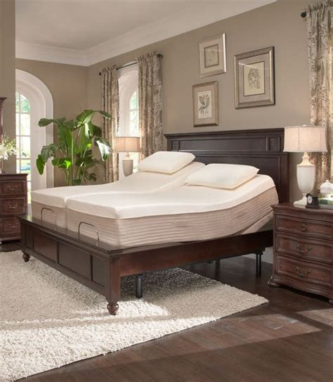 sleep science ara 13 quot split king memory foam mattress with adjustable base home furnishings