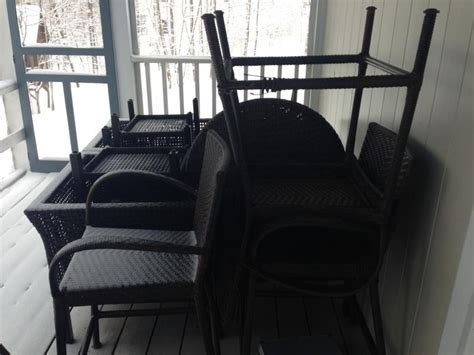 Patio Furniture New Hshire The Subtle Of Snow Covered Patio Furniture New Hshire Radio