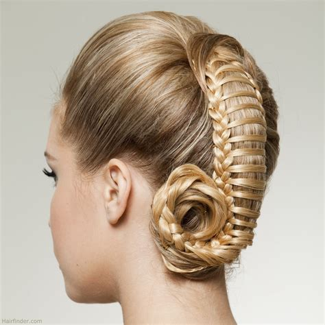 Hair Up Hairstyles by Up Style With Woven Hair Resembling A Ponytail Captured