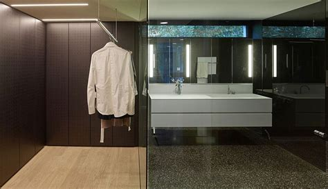 Walk In Closet And Bathroom by House Gt By Archinauten With Dynamic Steel Shading System