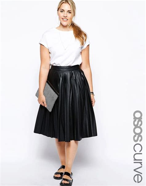 25 best ideas about leather midi skirt on