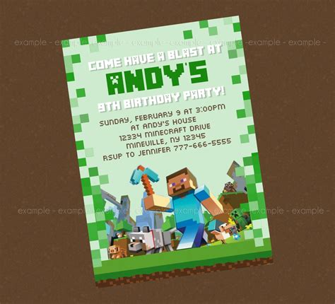 printable invitation minecraft free printable minecraft birthday invitations delaney s