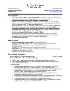 senior accountant resume sles sle staff accountant