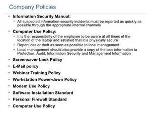 company computer use policy template employee security 1