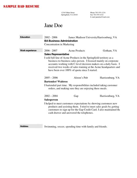 Exle Of Bartender Resume by Bartender Resume Exle Template Learnhowtoloseweight Net