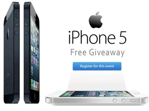 Free Iphone Sweepstakes - iphone 5 giveaway get the iphone 5 for free