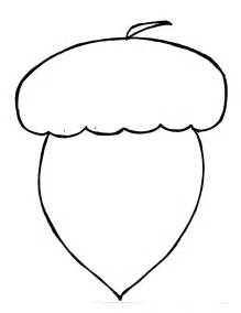 Acorn Drawing Outline by Picture Of An Acorn Nut Clipart Best