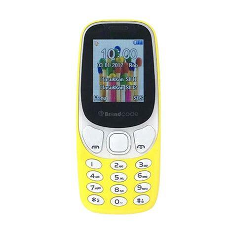 Brandcode B3310 Handphone Dual Sim jual brandcode b3310 handphone kuning dual sim gsm