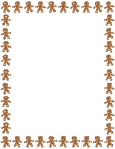 free printable gingerbread man stationary printable gingerbread man border free gif jpg pdf and
