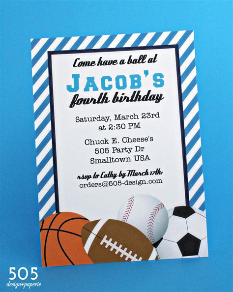 sports themed birthday ecards sports themed baby shower and birthday party invitation