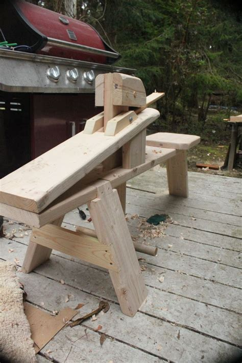 shaving horse bench my new shaving horse for making staves shave horse