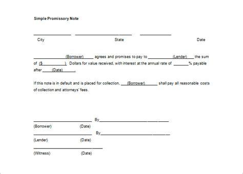 promissory note templates    premium