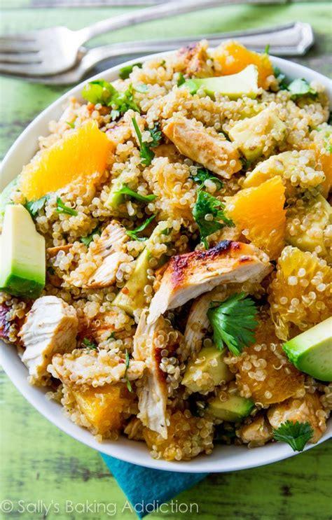easy light meals for dinner citrus chicken quinoa salad sallys baking addiction