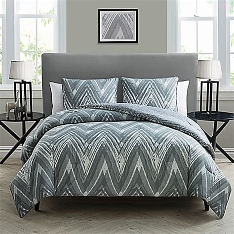 white and grey comforter sets kayden 3 piece reversible comforter set in grey white