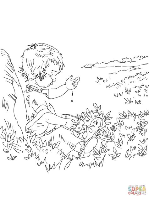 sal drops  blueberry coloring page  printable